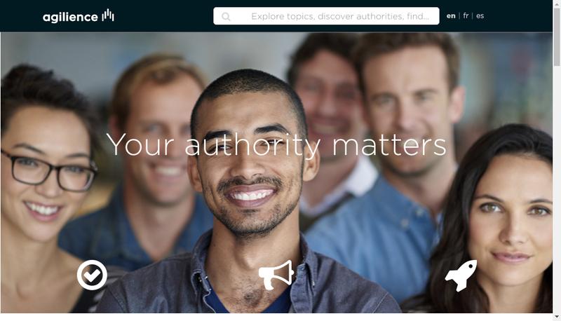 Capture d'écran du site de Agilience