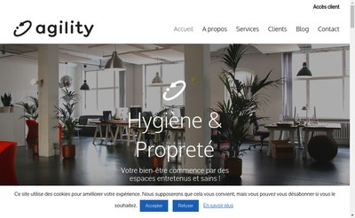 Site internet de Agility Proprete et Services