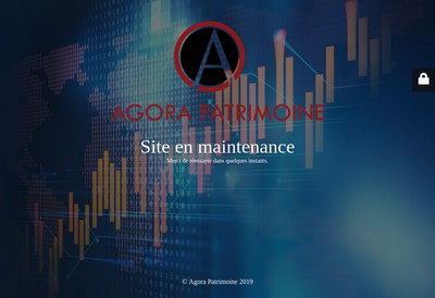 Site internet de Agora Patrimoine