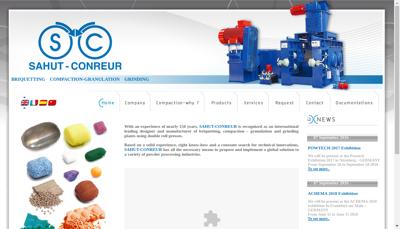 Capture d'écran du site de Sahut Conreur SA