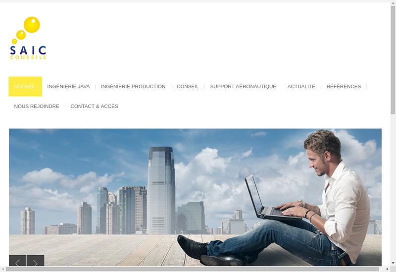 Capture d'écran du site de Saic Conseils
