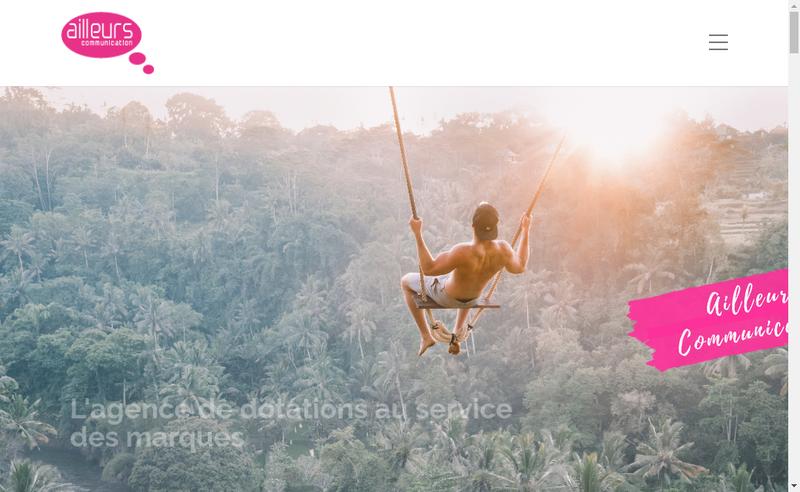 Capture d'écran du site de Groupe Ailleurs Communication
