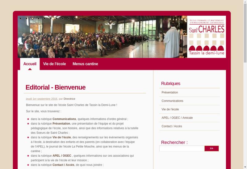 Capture d'écran du site de Ecole Saint Charles