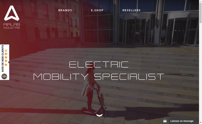 Capture d'écran du site de Airlab Industrie