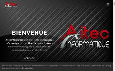 Site internet de Aitec Informatique