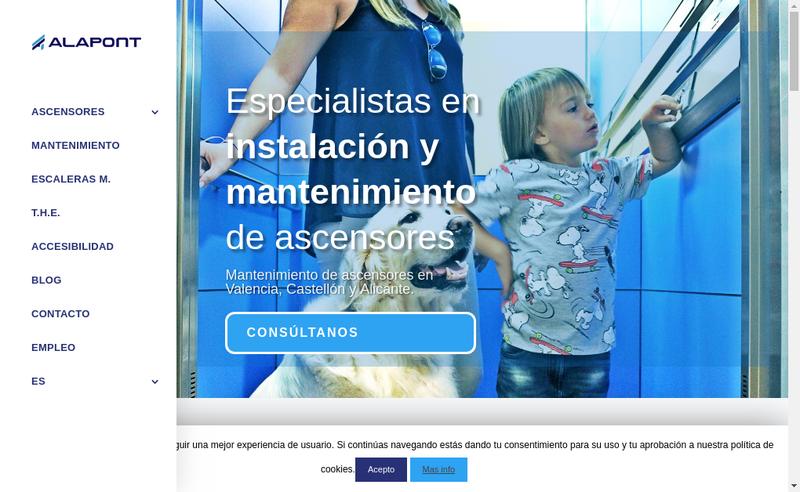 Capture d'écran du site de Alapont France