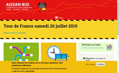 Site internet de Keolis Grand Tarbes