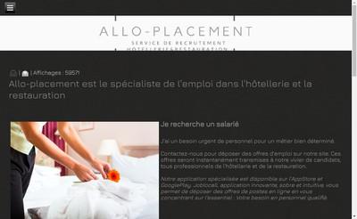 Site internet de Allo-Placement