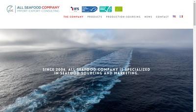 Site internet de All Seafood Company
