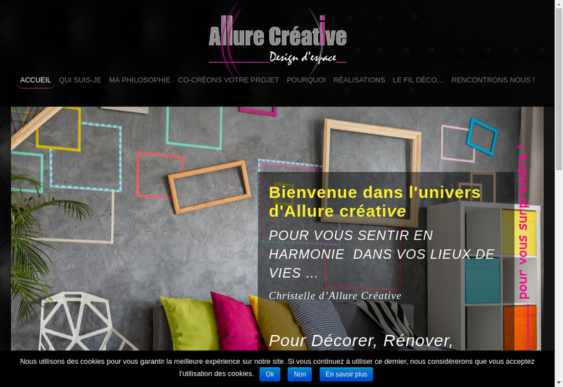 Capture d'écran du site de Allure Creative Design d'Espace