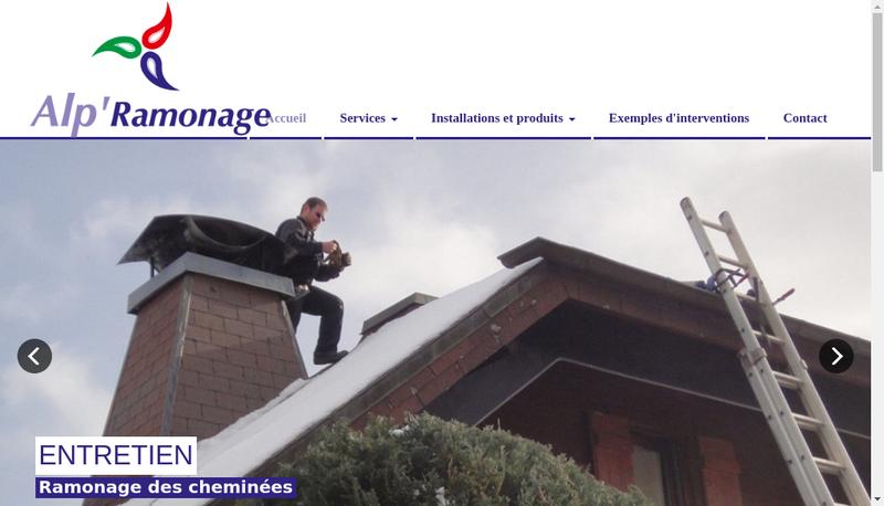 Capture d'écran du site de Alp Ramonage