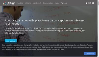 Site internet de Altair Engineering France