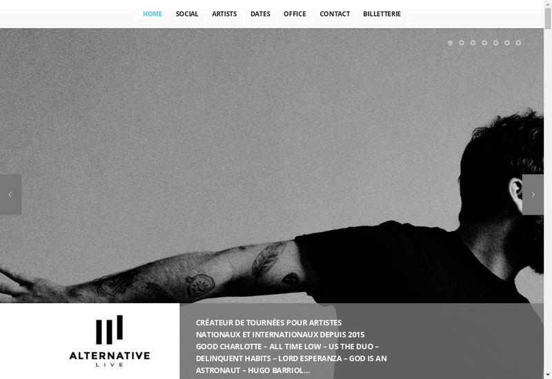 Capture d'écran du site de Alternative Live