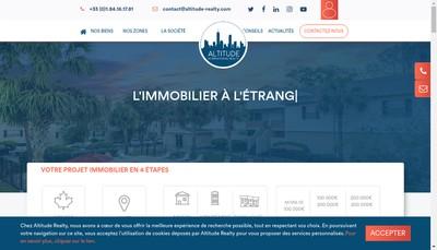 Site internet de Altitude Conseil