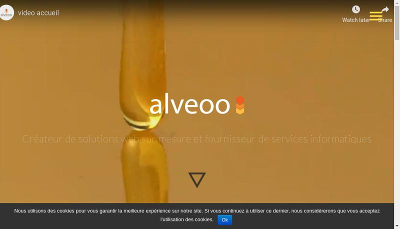 Capture d'écran du site de Alveoo