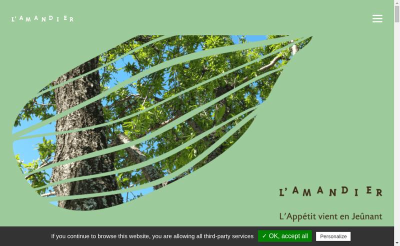 Capture d'écran du site de L'Amandier