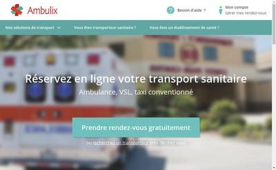 Site internet de Ambulix