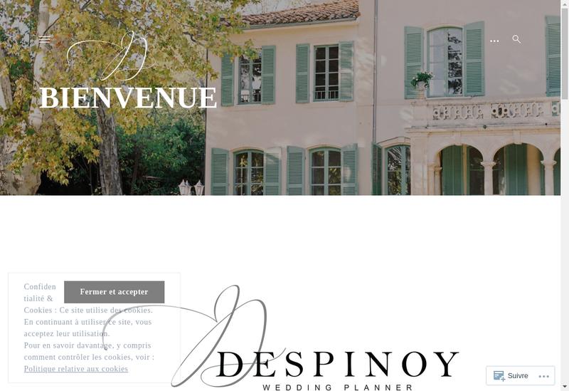 Capture d'écran du site de Despinoy Wedding & Event