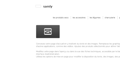 Capture d'écran du site de Samly