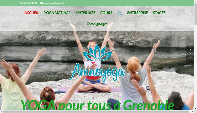 Capture d'écran du site de Noemie Fabre