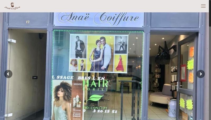 Capture d'écran du site de Anae Coiffure