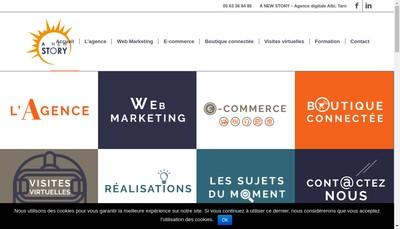 Site internet de SASU a New Story