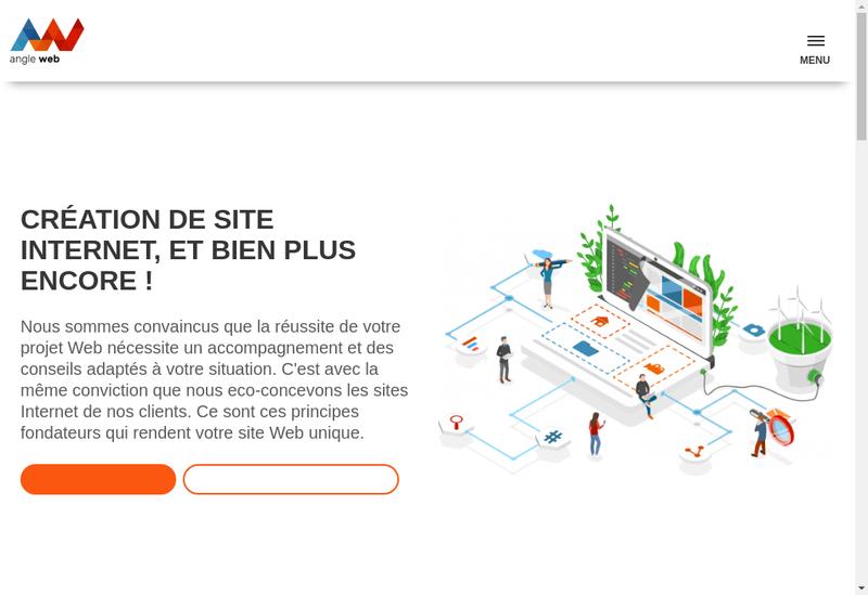 Capture d'écran du site de Angle Web