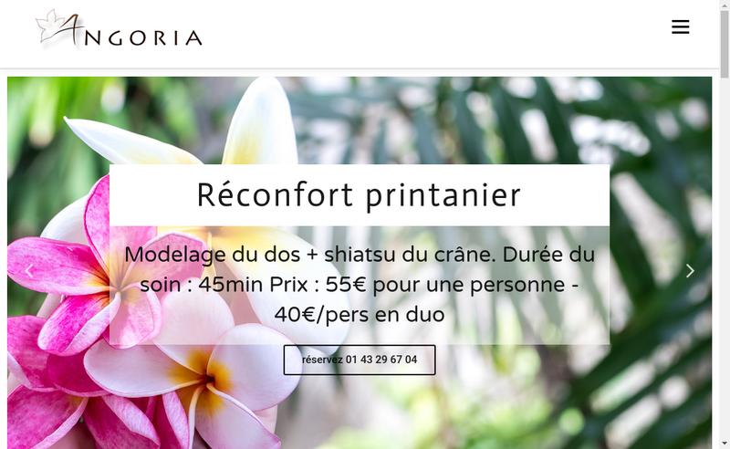 Capture d'écran du site de Angoria