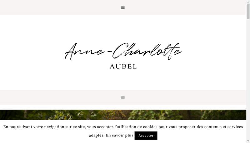 Capture d'écran du site de Anne Charlotte Aubel