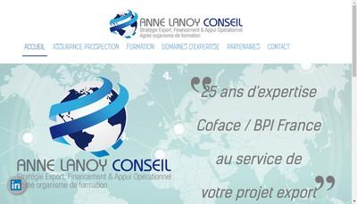 Site internet de Anne Lanoy Conseil