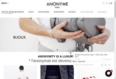 Site internet de Anonyme Paris