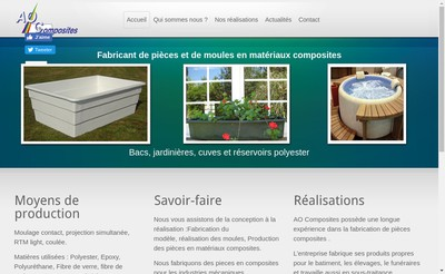 Site internet de Ao Composites