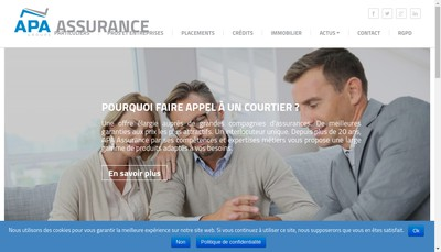 Site internet de Apa Assurance