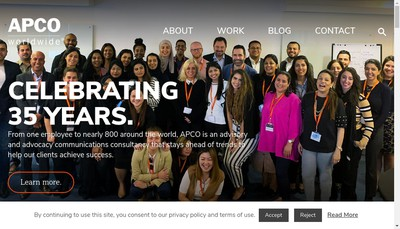 Site internet de Apco Worldwide