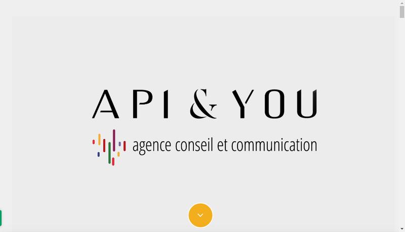 Capture d'écran du site de Api & You