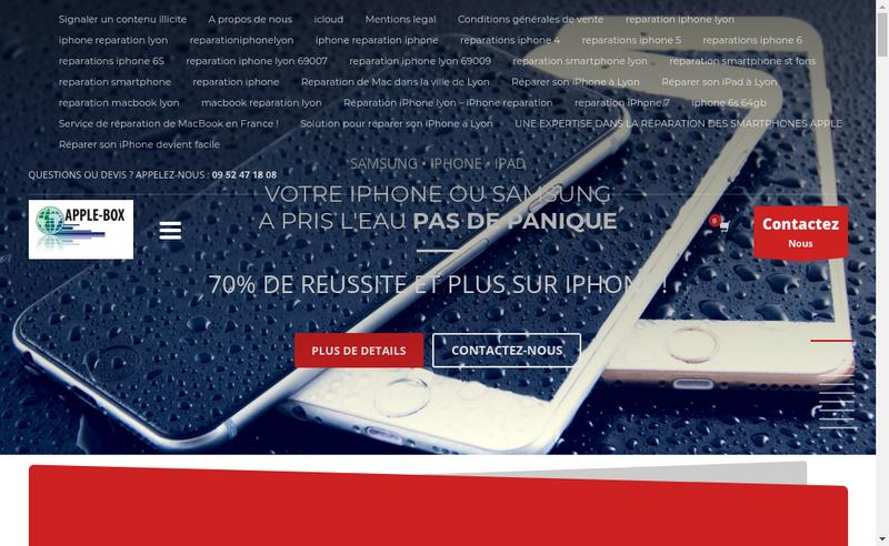 Capture d'écran du site de Apple-Box