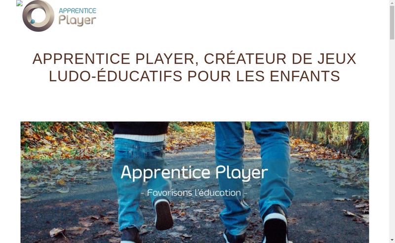 Capture d'écran du site de Apprentice Player