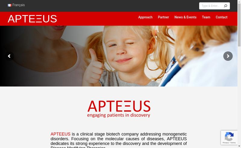Capture d'écran du site de Apteeus