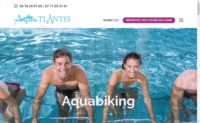 Capture d'écran du site de Aqua'Tlantis