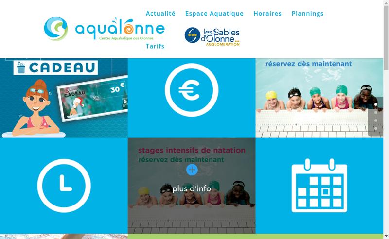 Capture d'écran du site de Aqualonne