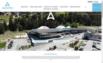 Site internet de Aquamotion