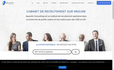 Site internet de Aquantis Consulting