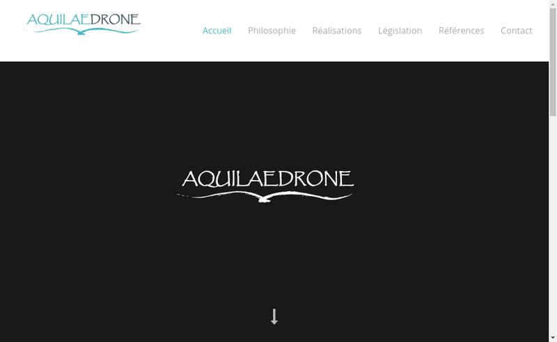 Capture d'écran du site de Aquilaedrone