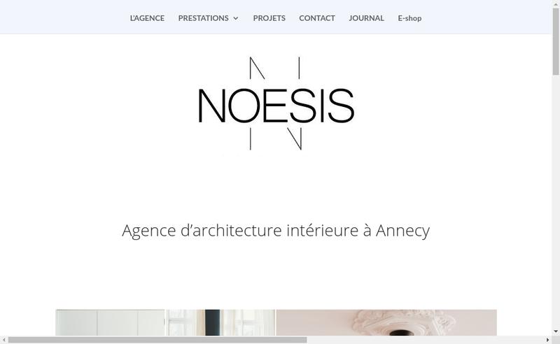 Capture d'écran du site de Noesis