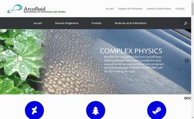 Site internet de Arcofluid