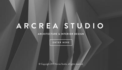 Capture d'écran du site de Arcrea Studio