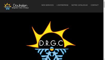 Capture d'écran du site de DRGC