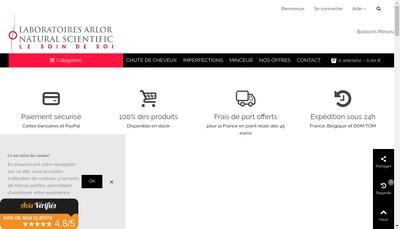 Site internet de Arlor Laboratoires Natural Scientific Delices et Minceur Laboratoires