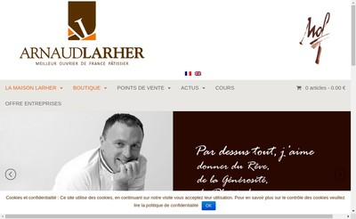 Site internet de Maison Arnaud Larher