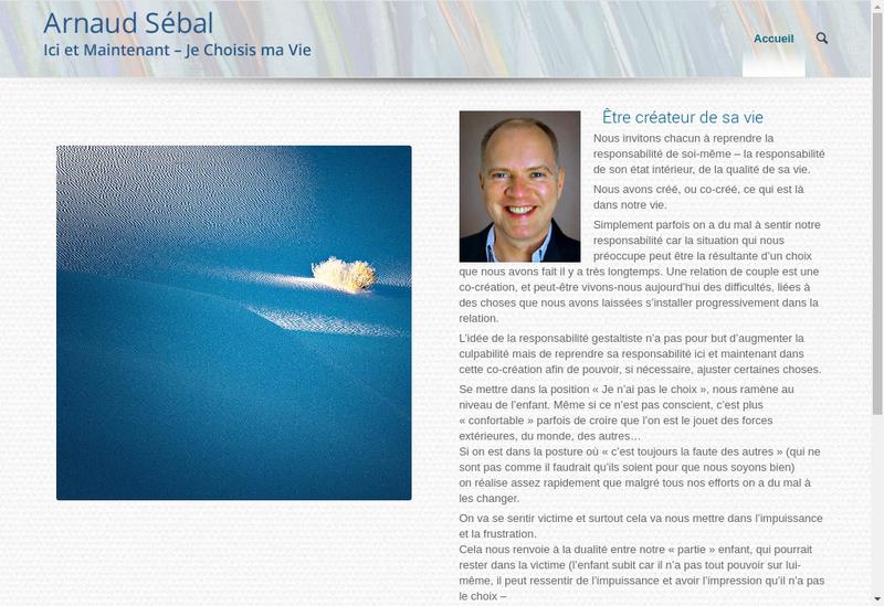 Capture d'écran du site de Arnaud Sebal